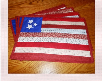 Patriotic Placemats PDF Pattern (Quilt-as-you-go!)