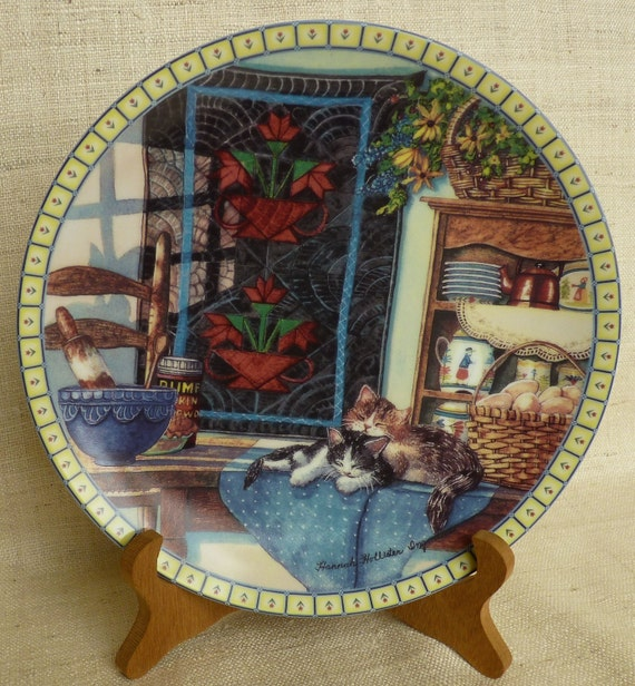 """HANNAH HOLLISTER """"Lazy Morning"""" Signed Plate First Issue 1990 Limited Edition"""