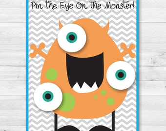 Pin the Eye on the Monster Party Game