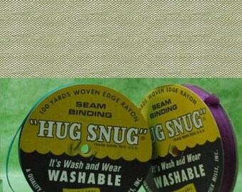 "CREAM - Hug Snug Seam Binding 100-yds Roll 1/2"" Wide  - 100% Woven-Edge Rayon - Wash 'n Wear - craft ribbon, scrapbook, gift wrap"