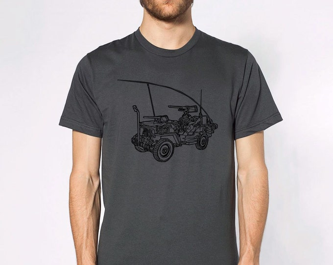 KillerBeeMoto: Limited Release Vintage Willys MB World War Two Scout Jeep On A Short Or Long Sleeve T-Shirt