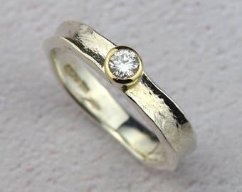 Rustic Diamond Ring   White Gold Diamond Engagement Ring   Unusual Engagement Ring   Unique Diamond Ring   Gold Engagement Ring Alison Moore