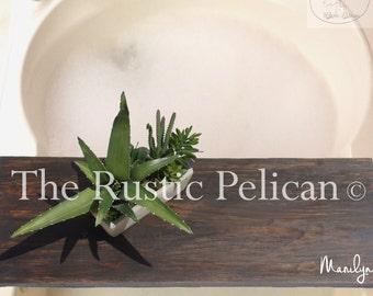 SALE - Rustic Bathtub Tray - Bathtub Caddy -Wood Bathtub Tray - Rustic Bath Caddy -Tub Tray -Bath Caddy -Bathtub Shelf -Bath -