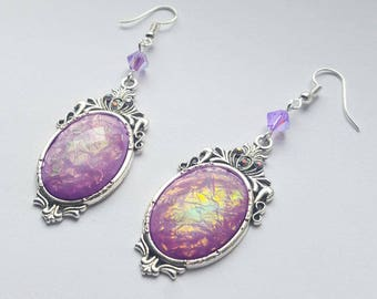 Mermaid Queen Lilac Opal Earrings