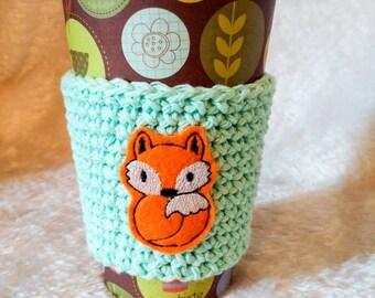 Fox Java Jacket, To-Go Sleeve, Fox Lover Gift, Coffee Lover Gift, Gift under 10, Travel Sleeve, Stocking Stuffer, Reusable Coffee Sleeve