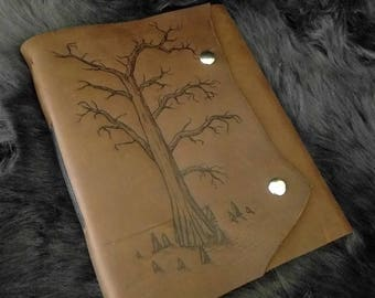 Cypress Leather Journal - Sketchbook - Diary - Notebook - Scrapbook - Travel book