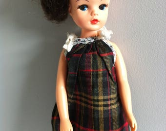 Vintage Sindy Tartan Dress.