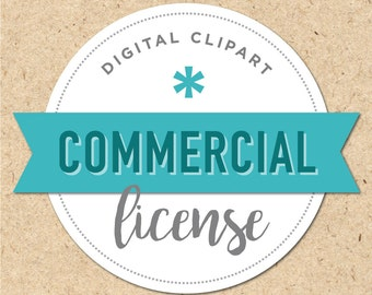 Commercial License for Digital Clipart Set
