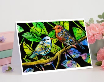 Watercolor Bird Art Card | 5x7 Card With Envelope | Nature Art | Art Birthday Card | Nature-Lovers Card | Thank You Card | Card For Wife