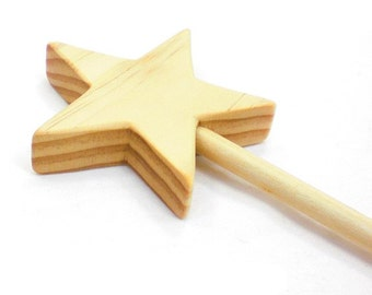 Magic Fairy Wand - Wood Magic Wand, Princess Wand, Wooden Wand, Wooden Magic Wand, Wood Wand, Wooden Star Wand, Wood Star Wand