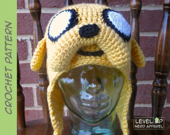 Stretchy Dog earflap hat CROCHET PATTERN || 3 sizes || || Instant Download