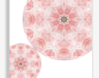 Mandala Art Canvas Print ~ Rose Quartz Crystal Wall Art for Bedroom and Nursery ~ Home Accessories ~ Feng Shui Wall Decor ~ Sacred Geometry