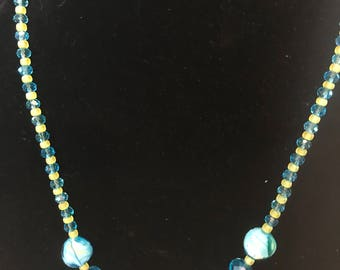 Lemony Blues - Necklace Earrings