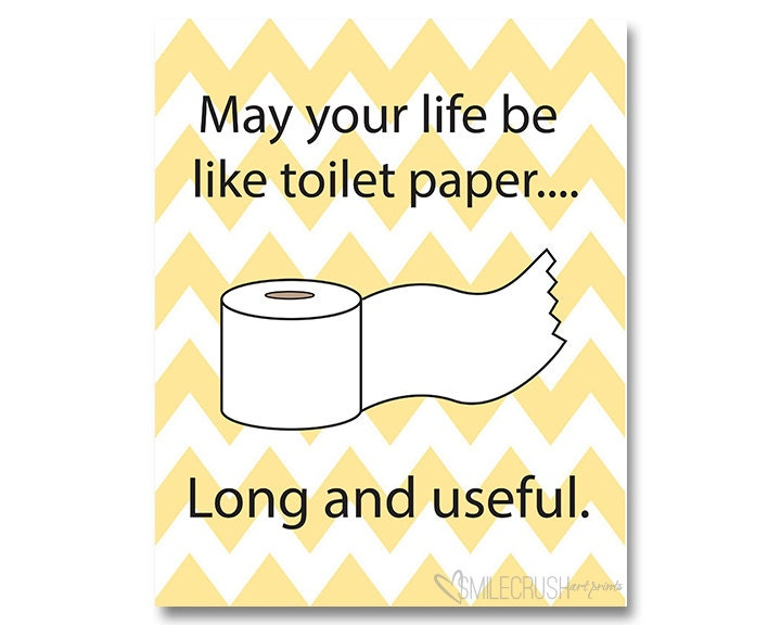 Bathroom Printable Toilet Paper Sign Funny Bathroom Quote