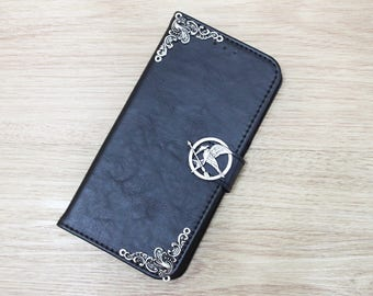 The Hunger Games Mockingjay Bird Wallet Leather Handmade Stand Case Cover For Apple iPhone 6 6S 6 Plus 6S Plus / 7 / 7 Plus 8 / 8 Plus / X