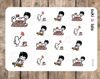 HOME DIY Planner Stickers, Home Improvement Planner Stickers, Home Renovation Planner stickers,  Construction Planner Stickers (SAL052)