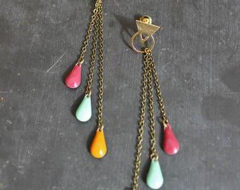 """Earrings """"Confetti"""" pop triangle"""