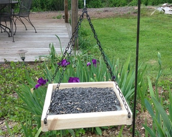 Cedar Tray Bird Feeder,Hanging Tray Feeder