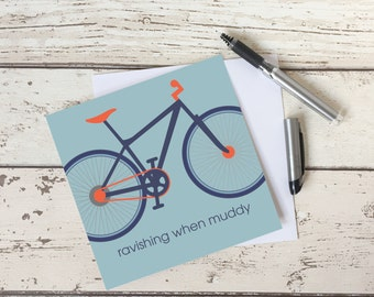 Blank Card for Biker, greeting card for cyclist, blank card, sports occasion card, mountain biking, gift card for cyclist
