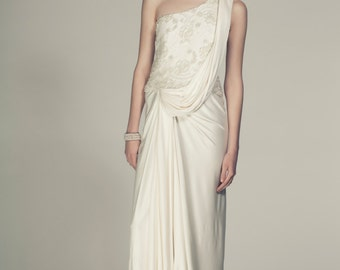 Grecian wedding gown etsy silk jersey grecian wedding dress junglespirit Image collections