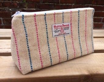 Harris Tweed cosmetics bag
