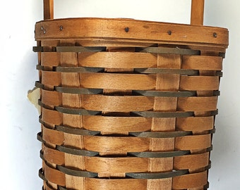 Longaberger vintage basket peg type 1988 tall