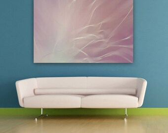 Ethereal Pink Photography, Abstract Nature Photograph, Pink Living Room Wall Art, Horizontal Wall Art, Fine Art Photo Print, Bedroom Decor