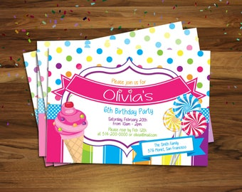 Invitation card to print yourself, Birthday invitation