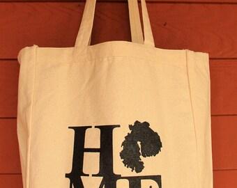 MDI HOME Design Grocery Tote Bag -  Screen Printed Original Design