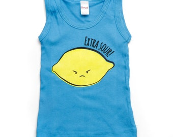 Pool Blue Extra Sour Lemon Baby Toddler Kd Tank 3-6m to 18-24m ON SALE