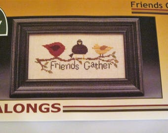 The Trilogy FRIENDS GATHER Counted Cross Stitch Kit Take Alongs Travel Pack