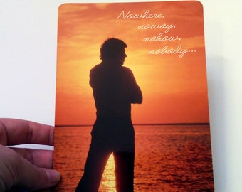 Retro 70s Valentine's Day Card - Nowhere, noway, nohow, nobody...loves you more than me!