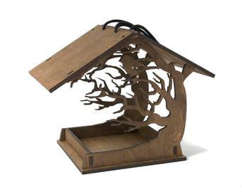 Birds house - Birdhouses - Wooden bird feeder - Garden decor - Bird feeder - Hanging bird feeder - Love birds - Patio decor - Garden gift