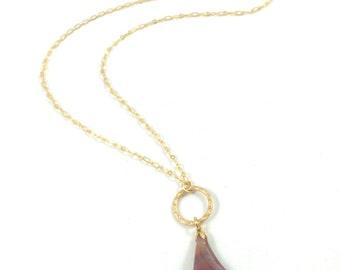 Jasper Necklace, Red Jasper Necklace, Gold Necklace, Red Stone Necklace, Chakra Jewelry Energy Jewelry Bohemian Jewelry Hippie Birthday Gift