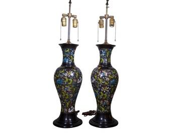Antique Cloissenae Table Lamps