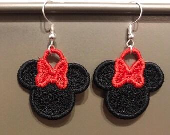 FSL Minnie Mouse Ear Earrings