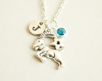 Capricorn Necklace, Capricorn Charm gift, Capricorn Jewelry, Capricorn gift, Capricorn Zodiac Necklace, December, January,Birthday gift idea
