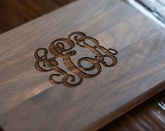 Custom Engraved Cutting Board, Personalized Cutting Board, Monogram, Wedding Gift, Anniversary, Bridal Shower Gift, Kitchen Decor #3101