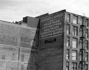 Omaha Photography Black and White Photo of Retro Advertising Art
