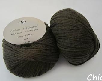 10 balls of wool and cashmere / brand / khaki