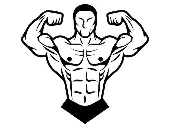 bodybuilder 12 bodybuilding logo back pose weightlifting rh etsy com bodybuilding logos sample bodybuilding logos graphic design