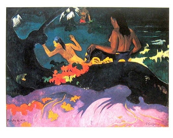 French Impressionist Art - Paul Gauguin - By The Sea -  1977 Large Poster Sized Print 12 x 15