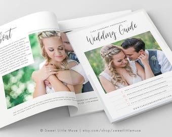 Wedding Magazine Template - Wedding Photography Magazine Template - Wedding Magazine Template for Photographers