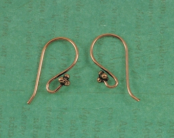 Copper Earwires - Genuine Copper Earwires - Bali Style - 50 Pieces