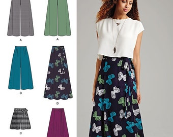 Simplicity Sewing Pattern 1069 Misses' Wide Leg Pants or Shorts & Skirts in 2 Lengths