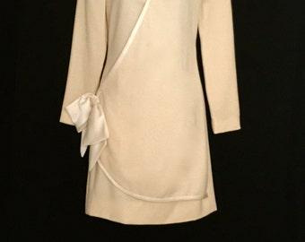 Cream Wrap Dress        VG101