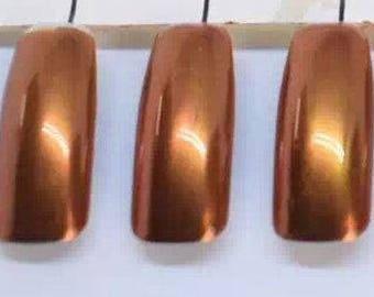 ROSE GOLD Chrome Mirror Nail Powder for Nail Art, Gel Nails