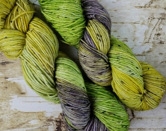 Prairius, Forever Fields | Ready To Ship | SW Merino Wool With Neps | yellow, green and gray with tweed neps
