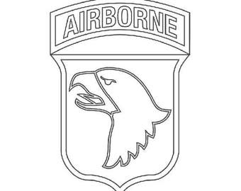 US Army 101st Airborne Division Patch Vector Files, dxf eps svg ai crv