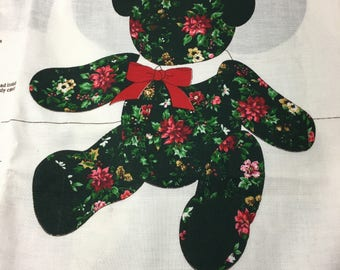FABRIC PANEL for making a Christmas Teddy Bear